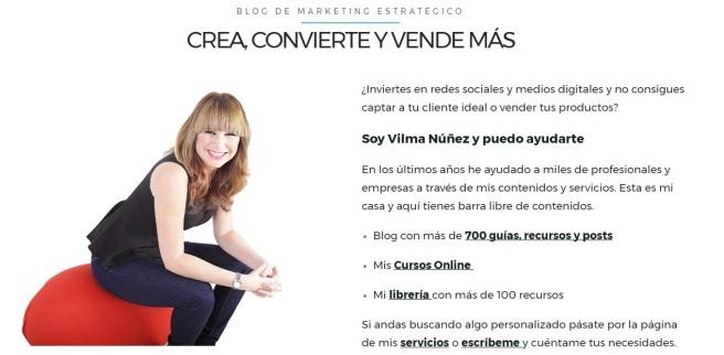 VILMA, blogera y experta en marketing